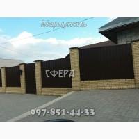 Металлические заборы из профнастила, распашные ворота, гаражные в Мариуполе