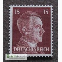 Почтовая марка. Adolf Hitler. Deutsches Reich. 15 pf. 1941г. SC 781