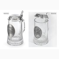 Бокалы для пива фирмы Артина олово, стекло Австрия – Германия опт