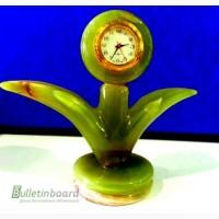 Часы Пальмочка из оникса 15см