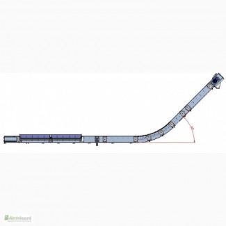 Транспортер цепной гусиная шея для приёмных ковшей (завальных ям)