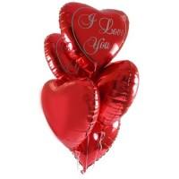 Сердца фольгированные гелиевые на свадьбу