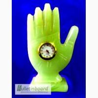 Часы Ладонь из оникса 11см