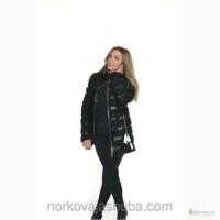 Пальто куртка молодежная из каракуля и норки