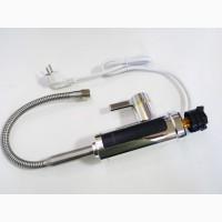 Проточный водонагреватель гибкий кран с экраном хром.пластик Delimano RX-011-1