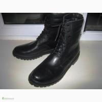Высокие ботинки кожаные на меху по оптовой цене