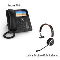 Snom D785 + Jabra Evolve 65 MS Mono, комплект: sip телефон + гарнитура