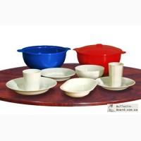 Пластмассовая многоразовая посуда для горячих и холодных блюд