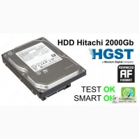 Жесткий диск, HDD Hitachi 2000Gb, 64Mb, 7200, SATA III