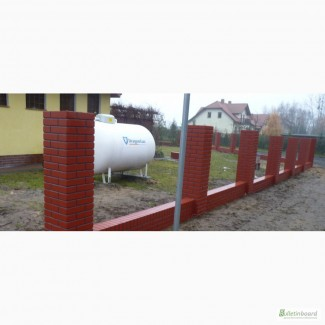 Столбики бетонные для заборов и ограждений под клинкер