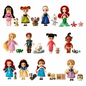 Подарочный набор 12 мини кукол с питомцами в детстве Аниматор