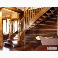 Изготовление лестниц из натурального дерева.