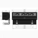 Накладной блок розеток IBConnect Prisma 4x220. Поворот крышки на 90