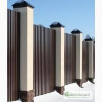 Крышка на забор металлическая