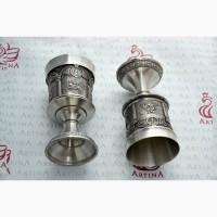 Уникальные оловянные наборы для вина Артина барельефами Дюрера и Рембранта