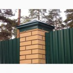Крышка на забор металлическая для столбов
