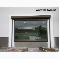 Панорманое окно из алюминия. Раздвижные двери-гармошка из алюминия