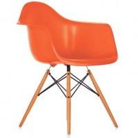 Кресло Тауэр Вуд, деревянные ножки, пластик, зеленый, красный, оранжевый, желтый