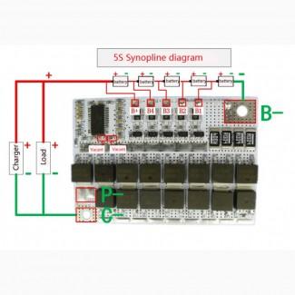 BMS 5S 100А 21V плата защиты Li-Ion аккумулятора c балансиром 4S 3S BMS 5S 60-100А, 21V