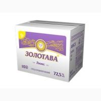 Спред сладкосливочный Золотава Люкс 72, 5% брикет 10/20 кг