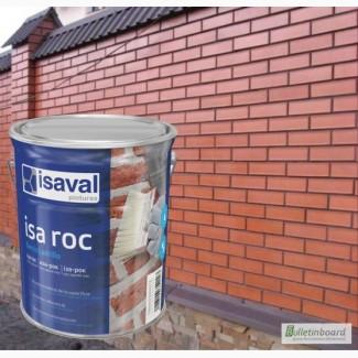 Фасадный гидроизолирующий прозрачный лак ISAVAL Иза-Рок 0.75 л с эффектом Мокрый Камень