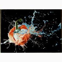 Картина Перец в краске холст, масло, 50х70 см