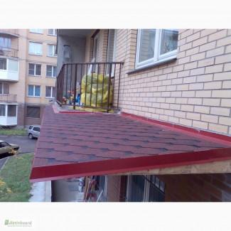 Ремонт балконных козырьков, кровельные работы