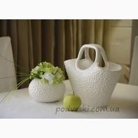 Керамические вазы и подсвечники коллекции Этна от украинского производителя