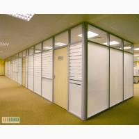 Алюминиевые перегородки для офиса или магазина. Шумоизоляция