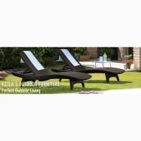 Шезлонг PACIFIC SET + TABLE искусственный ротанг Allibert Нидерланды