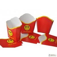 Картонная упаковка для фаст-фудов, этикетки, стаканчики
