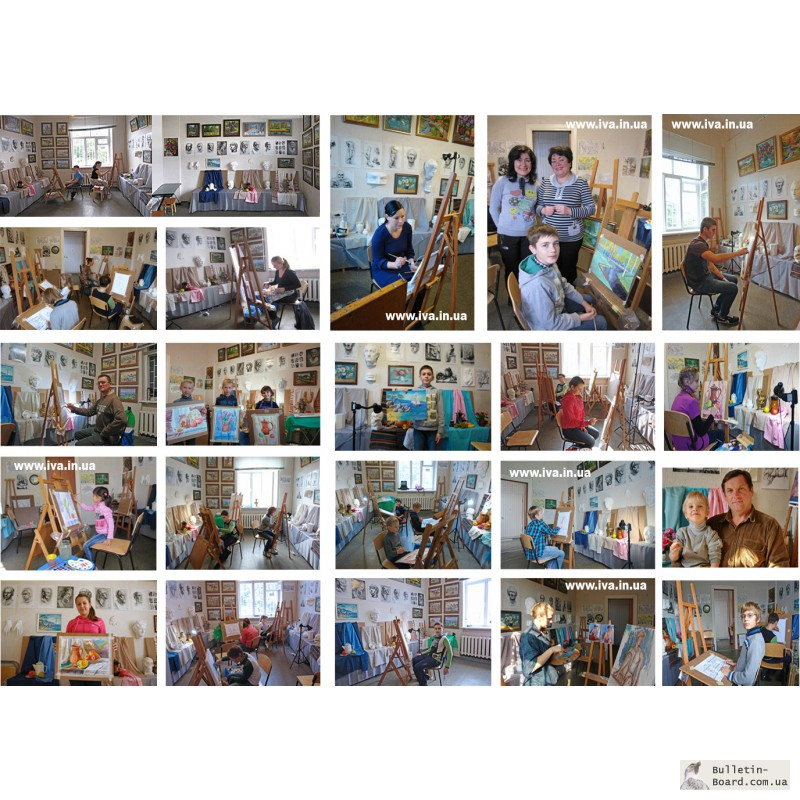 Фото 3. Обучение рисованию взрослых в мини-группах Днепроетровска