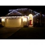 Новогоднее украшение дома, праздничная подсветка.Монтаж гирлянд.