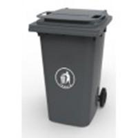 Бак для мусора пластиковый 360л. темно-серый. 360А-2DG