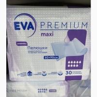 Пеленки одноразовые влаговпитывающие EVA premium 90х60 (30 шт)