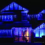 Световая гирлянда бахрома, новогодние гирлянды, монтаж праздничной иллюминации