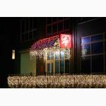 Уличная гирлянда БАХРОМА, светящиеся гирлянды, световое оформление зданий