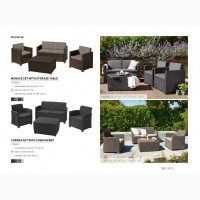 Садова, вуличні меблі штучного ротанга Allibert Нідерланди