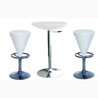 Стол барный высокий Амира, диаметр столешницы 60 см, цвет черный, белый