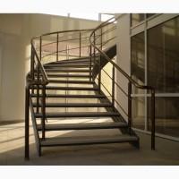 Лестничные перила и ограждения из анодированного алюминия, стекла и нержавейки