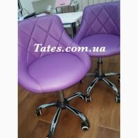 Парикмахерское кресло фиолетовое