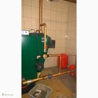 Подключение твердотопливных котлов, - на дровах, монтаж отопления, водоснабжение
