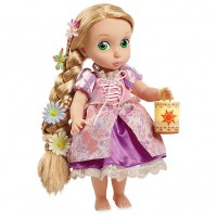 Кукла Рапунцель в детстве со светящимися волосами