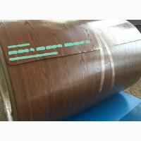 Гладкий лист под дерево 3Д, профнастил из металла 3D от завода