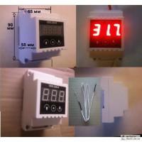 Терморегулятор, UDS-220.R ТР1350, на DiN-рейку, до +1350 градусов, с термопарой ТХА