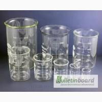 Стаканы мерные, лабораторные, стеклянные со шкалой 50 мл, 100 мл, 250 мл, 400 мл