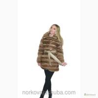 Модная норковая шуба поперечка маленького размера распродажа