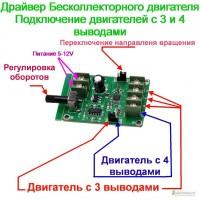 Драйвер Бесщеточного бесколлекторного двигателя CD DVD винчестера с регулировкой скорости