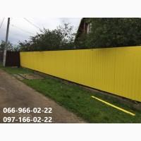 Профнастил ярко-желтый 1018 цена, Металлопрофиль 0.45 мм Ярко-желтый