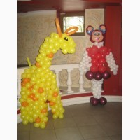 Фигура мультяшная из шаров для детей и взрослых